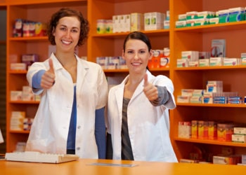 pharmacists showing their thumbs up