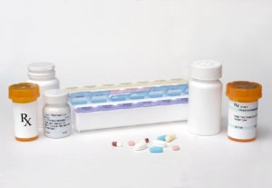 medicines in a box